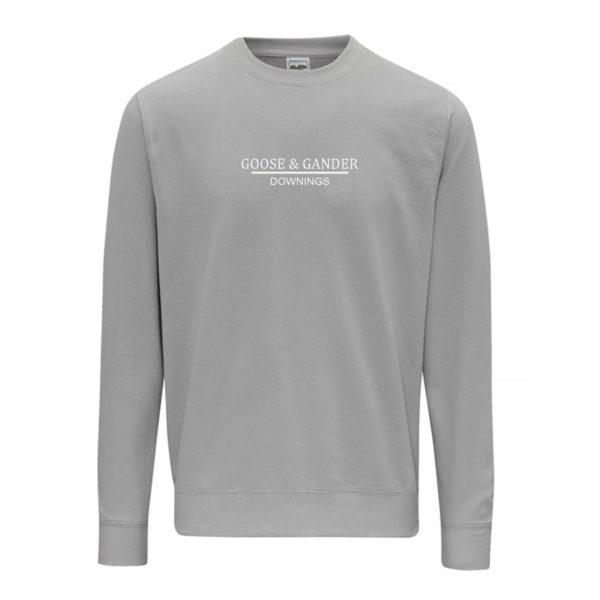 Goose and Gander Sweatshirt Moondust Grey Front-Goose-&-Gander-Downings