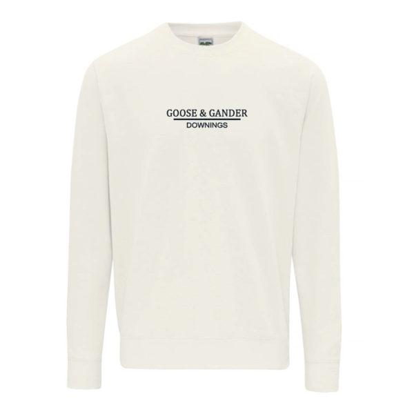 Goose and Gander Sweatshirt Vanilla Front-Goose-&-Gander-Downings